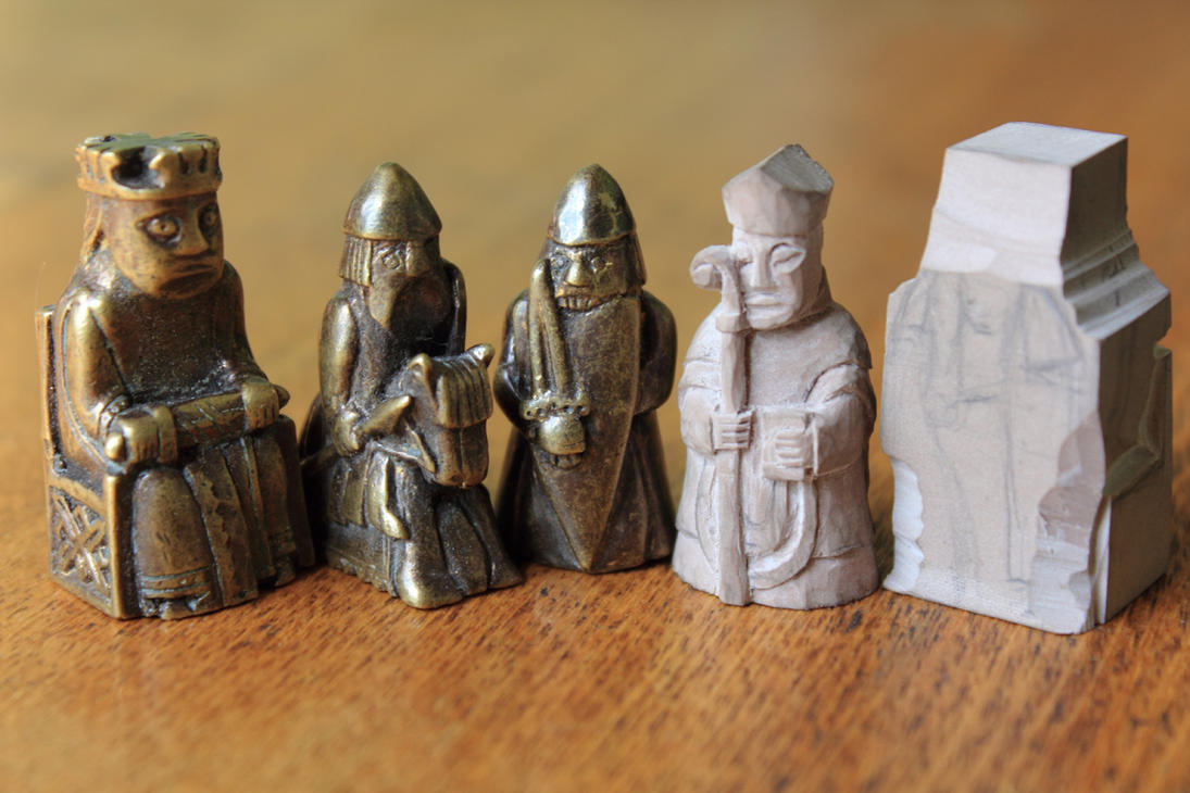 Lewis chessmen progress by ugrik on deviantart - Lewis chessmen set ...