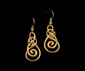 Urnes serpent earrings by Ugrik