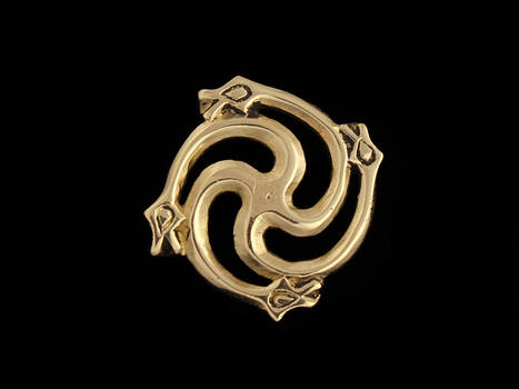 9th Century Brooch with Serpents