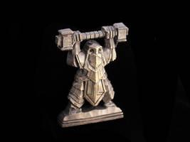 Dwarven statue miniature