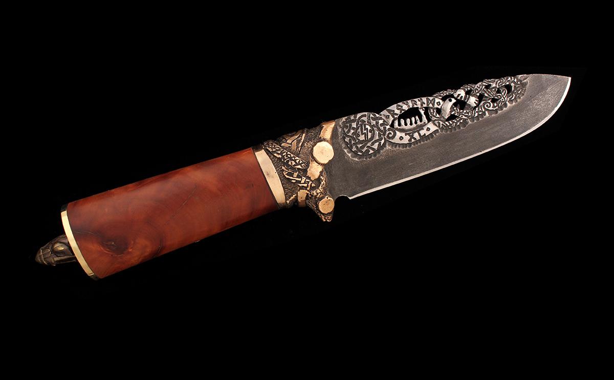 Jormungandr knife by Ugrik