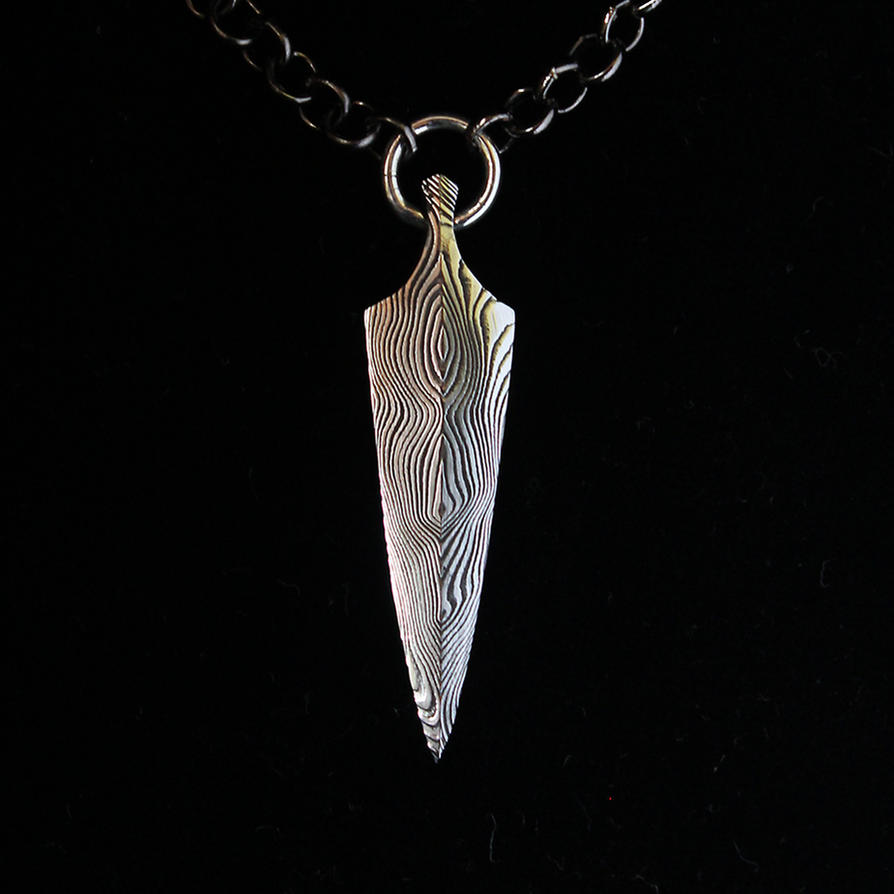 Damascus arrowhead pendant by ugrik on deviantart damascus arrowhead pendant by ugrik aloadofball Image collections