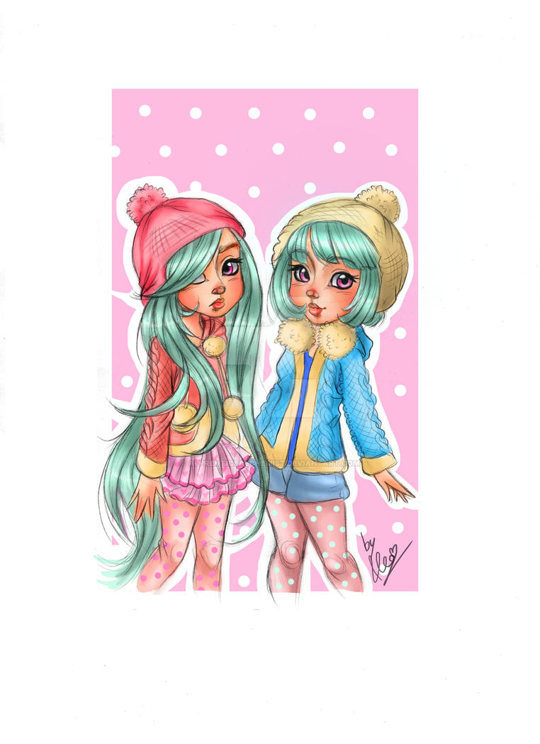 Twins Girls by apprenticealchemist