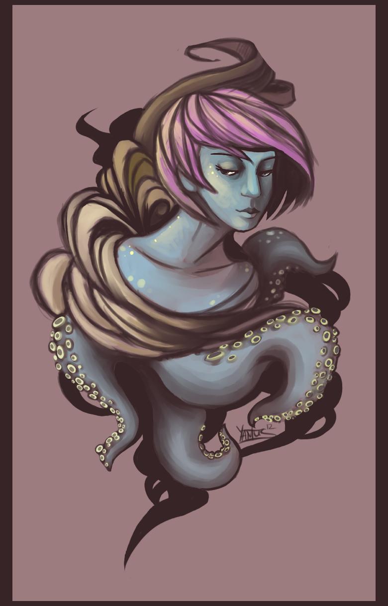 Octopus Girl by Yantus