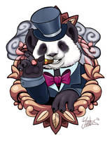 Panda tattoo design by Yantus