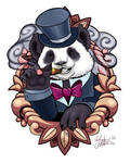 Panda tattoo design