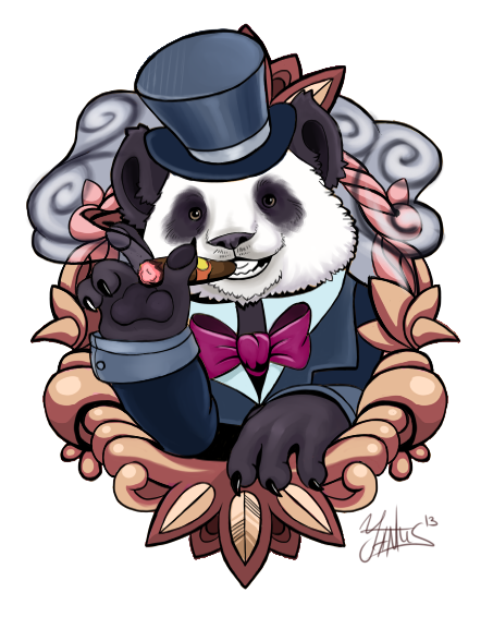 Panda tattoo design by Yantus on DeviantArt
