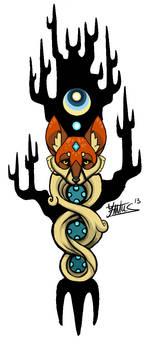 WoodenFox tattoo design