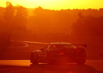Sunrise at Le Mans 2011 by DaveAyerstDavies