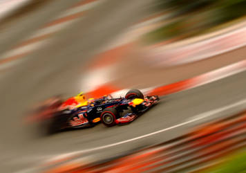 Mark Webber wins Monaco GP 2012 by DaveAyerstDavies
