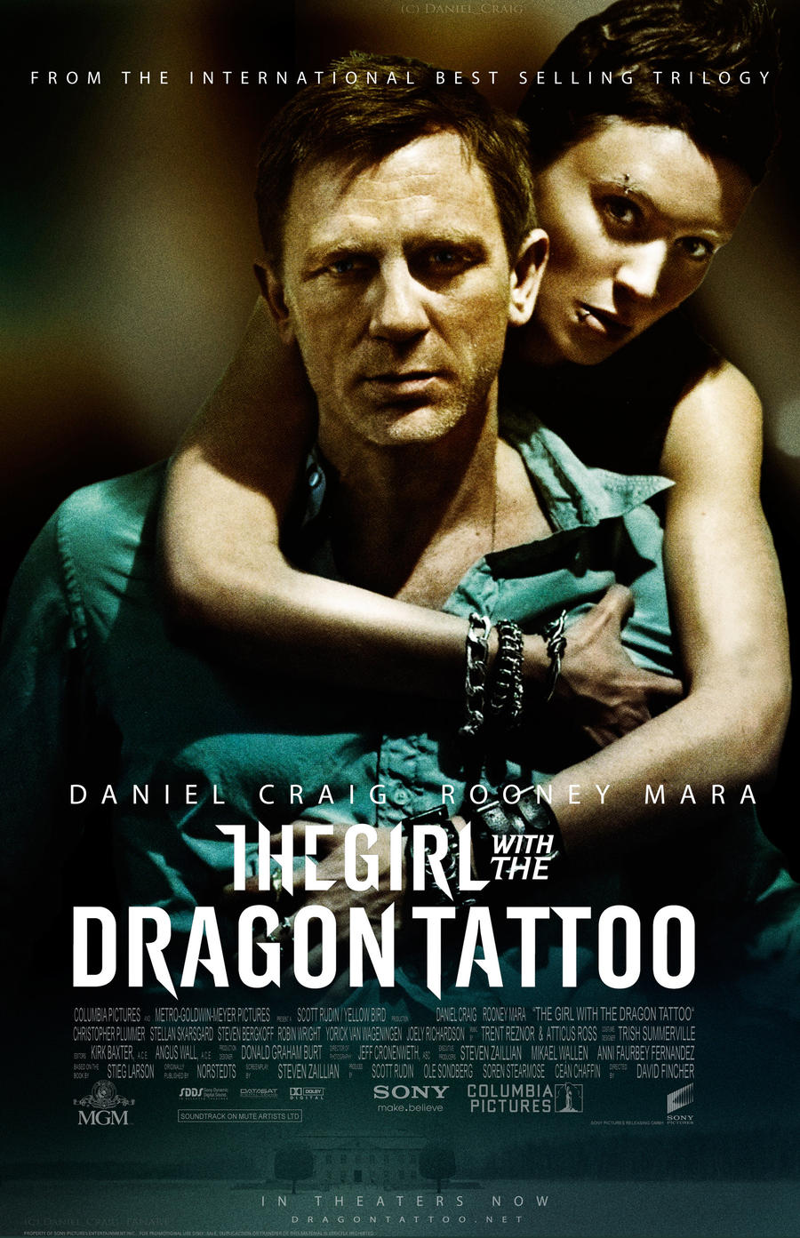 the girl with the dragon tattoo theatrical poster by