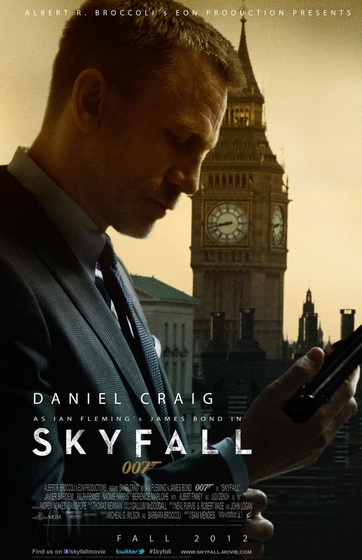 James Bond Daniel Craig Skyfall Poster