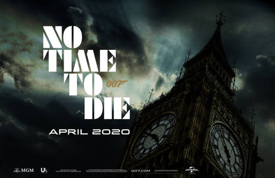 Bond 25 NO TIME TO DIE Teaser Quad-01 OneSheet Fin