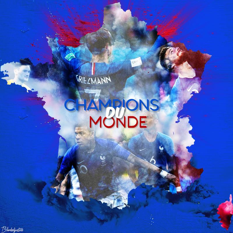 Champions Du Monde World Cup 2018 France By Blindedjustice On Deviantart