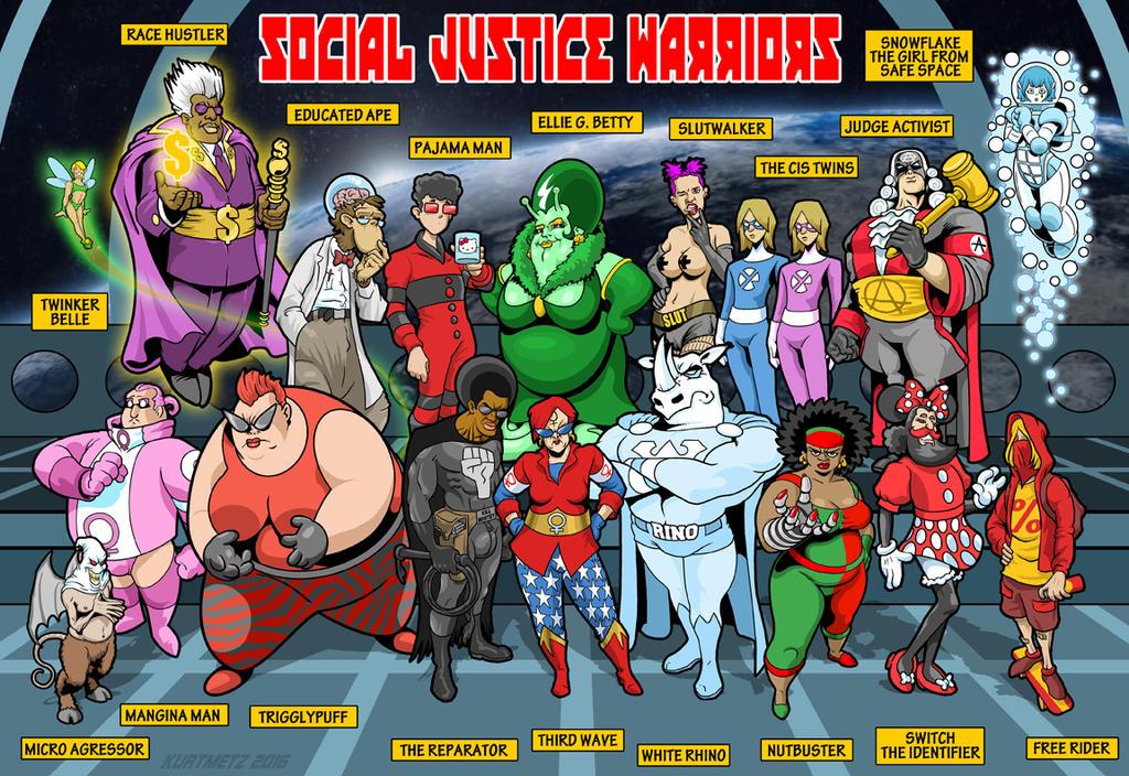 social_justice_warrior_team_photo_with_labels_by_kurtmetz_dad52w9-fullview.jpg?token=eyJ0eXAiOiJKV1QiLCJhbGciOiJIUzI1NiJ9.eyJzdWIiOiJ1cm46YXBwOiIsImlzcyI6InVybjphcHA6Iiwib2JqIjpbW3siaGVpZ2h0IjoiPD03MDQiLCJwYXRoIjoiXC9mXC8zZTVmZGYyNS0zY2EwLTQ1OTYtODcyZS1iZDMzYmMzZTNjNzJcL2RhZDUydzktMDMyOWM0M2UtYmZiNi00OWM5LTlmYTgtMzE3YjJjZDZkMmUzLmpwZyIsIndpZHRoIjoiPD0xMDI0In1dXSwiYXVkIjpbInVybjpzZXJ2aWNlOmltYWdlLm9wZXJhdGlvbnMiXX0.Cx3CO7Xhym9Vairpe1BIdutUdVJgH4nAzMn6e9RTAoU