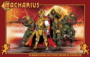 Macharius and Personal Guard by KurtMetz