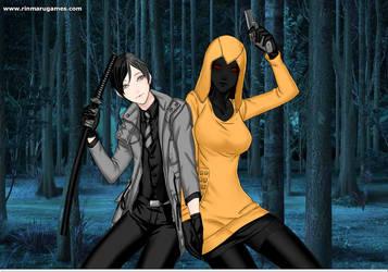 Hoodie And Blackout Gender Bend by blackoutlunaeclipse