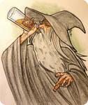Gandalf gettin crunk