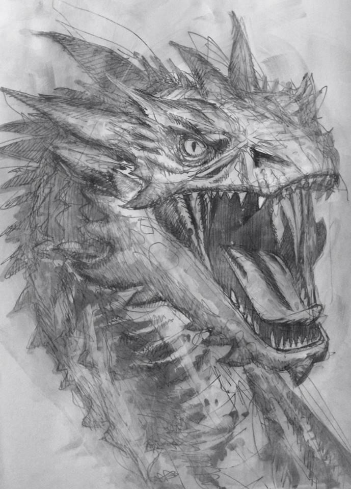 Smaug sketch by DavidPatel