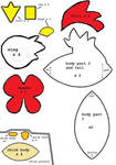 Harvest Moon Chicken and Chick Plush Pattern