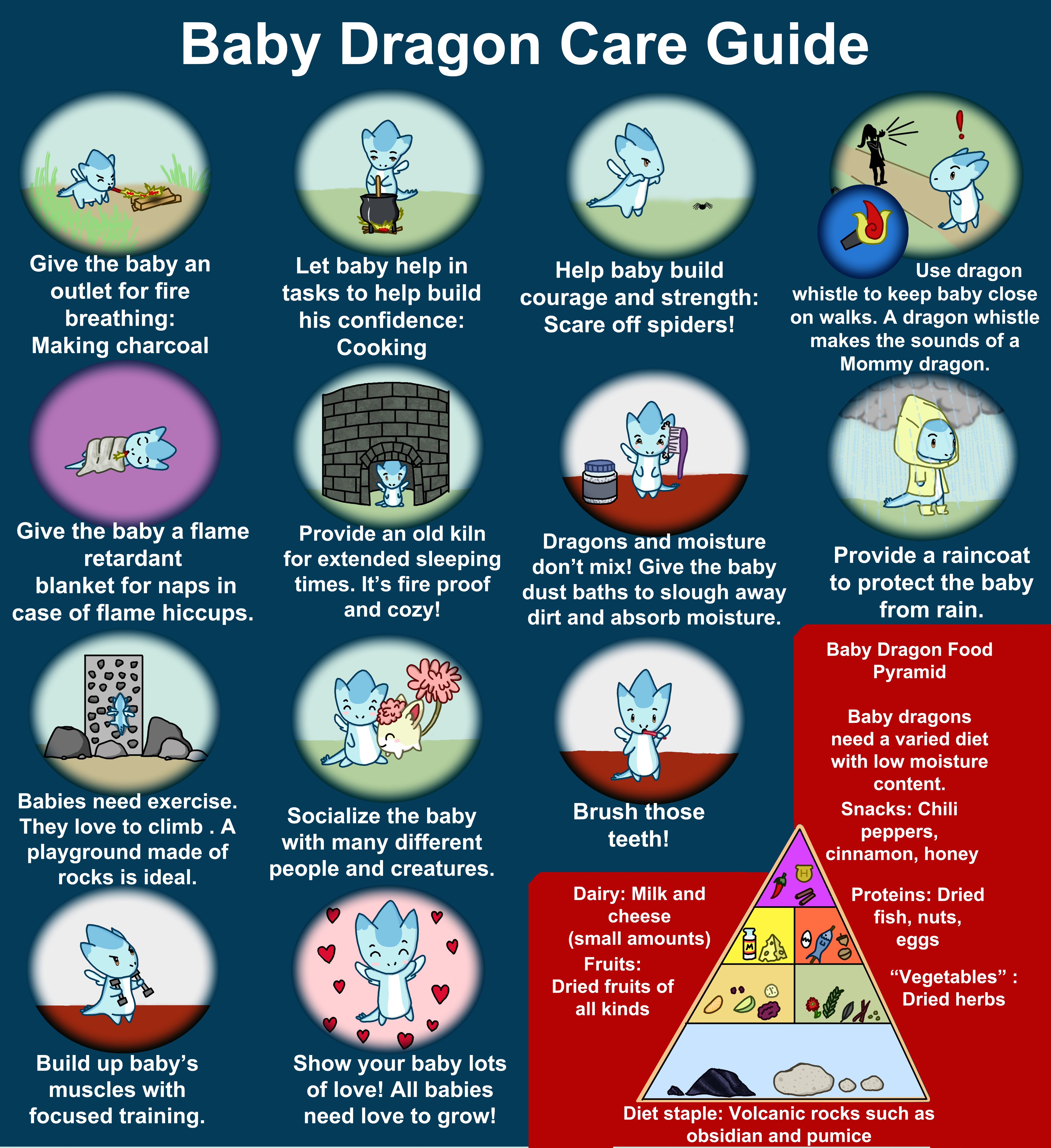 how to take care of a baby dragon
