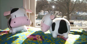 Harvest Moon Cow plushies
