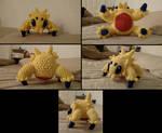 Joltik crochet plush multiple views (with pattern)
