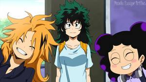 Mineta, Kaminari and Midoriya / My hero academia