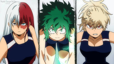 Pool competition / MHA genderbend BNHA