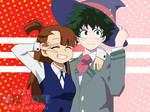 Deku and Akko ( Anime crossover )