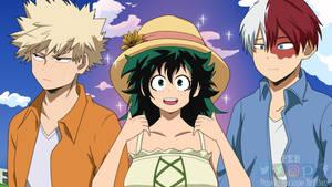 Love triangle / Bakugo, Todoroki and Fem Deku