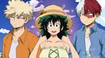 Love triangle / Bakugo, Todoroki and Fem Deku by Fuko99