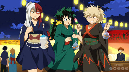 New year fest BNHA / MHA girls ( genderbend)