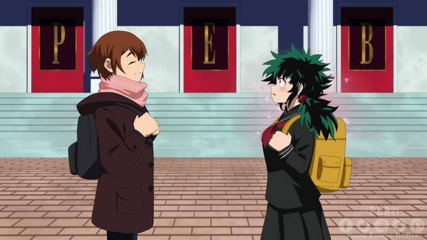 First meet Izuki x Ochaco / BNHA genderbend