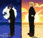 Sun and moon / Mirio Togata and Tamaki BNHA - MHA
