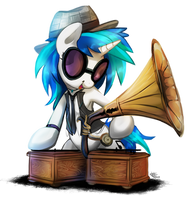 Electro Swing Vinyl Scratch by FidzFox