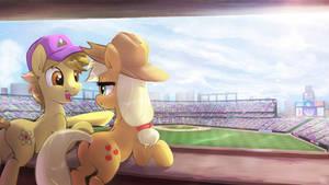 Commission - Dawnen Dusk and AJ enjoying Baseball