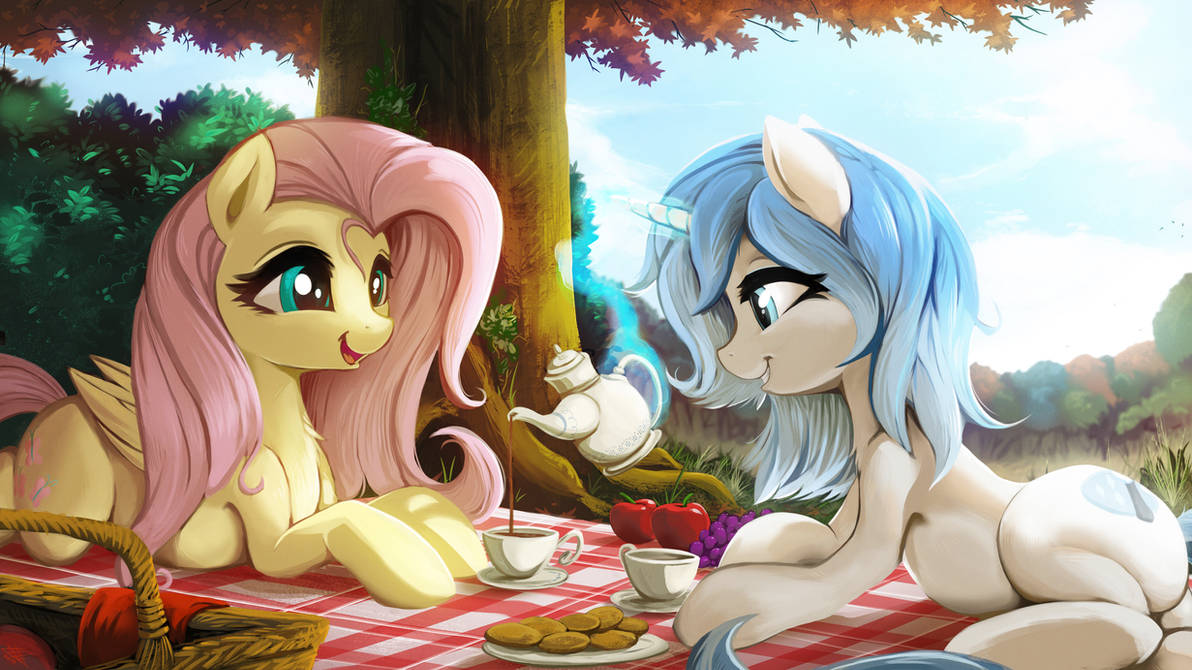 Commission - Picnic and tea by FidzFox