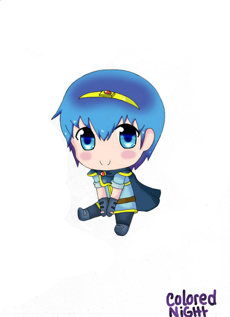 Marth-Chibi Time by ColoredNight