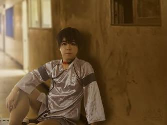 Shinji from Eva 3.0 in the hospital outfit (2) by Heatray2009