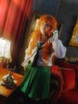 Saori from Girls und Panzer 3 by Heatray2009