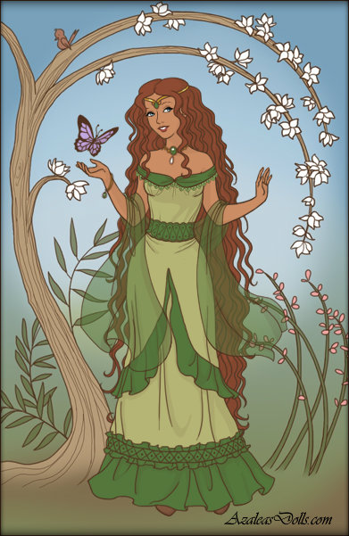 Rapunzel Dress Up ~ Lady Madelaine by MiniatureBlueOwl