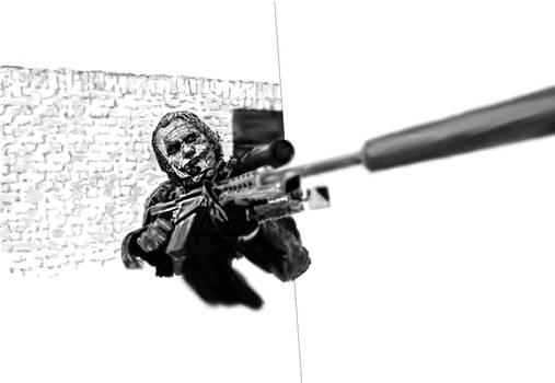 Joker tries sniping