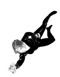 Black Widow doodling/light boxing by mrk9sp