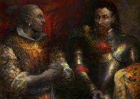 Morrowind:Advisor Llaalam Dredil and Duke Dren by IgorLevchenko