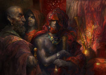 Morrowind:  Dunmeri bazaar by IgorLevchenko