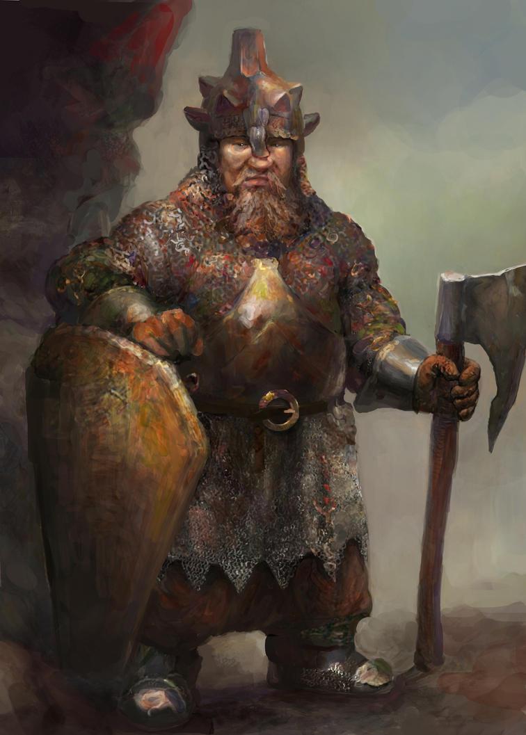 Dwarf Warrior by IgorLevchenko