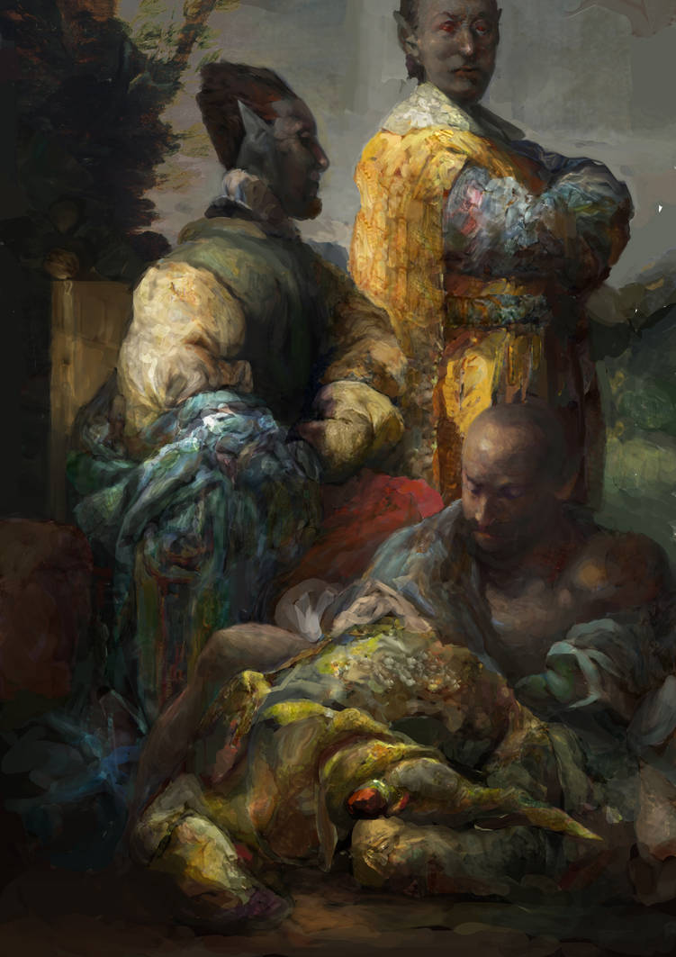 Morrowind:Hlaalu nobles at Odai Plateau by IgorLevchenko