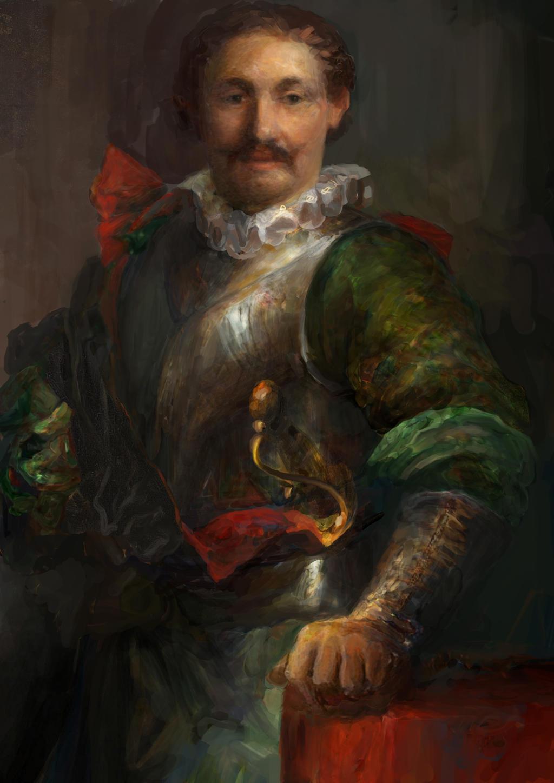 Portrait of a knight by IgorLevchenko