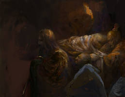Morrowind : Dunmeri funerary procession by IgorLevchenko